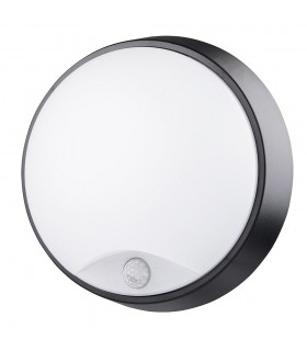 MAX-LED round bulkhead wall light 14W motion sensor neutral white -
