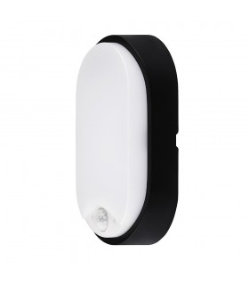 MAX-LED oval bulkhead wall light 14W motion sensor neutral white -