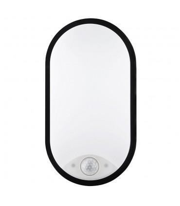 MAX-LED oval bulkhead wall light 14W motion sensor neutral white - front