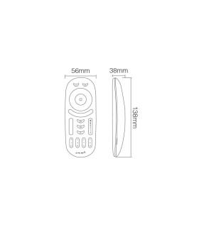 Mi-Light 2.4GHz 4-zone RGB+CCT remote controller FUT092 - size