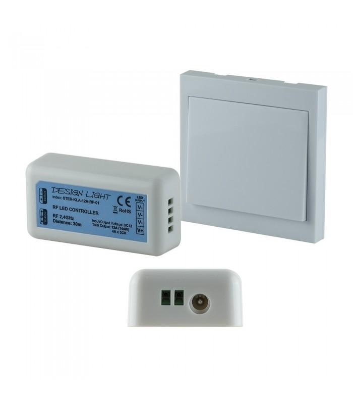 DESIGN LIGHT push button wall switch LED RF dimmer   -