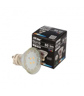 LED line® GU10 spotlight bulb SMD 1W warm white.  10 times less energy consumption The most energy-efficient source of l