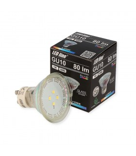 LED line® GU10 spotlight bulb SMD 1W cold white 10 times less energy consumption The most energy-efficient source of lig