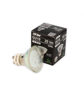 LED line® GU10 spotlight bulb SMD 1W yellow. 10 times less energy consumption The most energy-efficient source of lighti