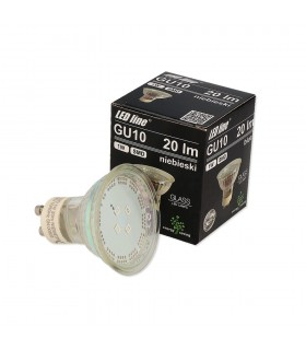LED line® GU10 spotlight bulb SMD 1W blue 10 times less energy consumption The most energy-efficient source of lighting