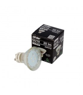 LED line® GU10 spotlight bulb SMD 1W green. 10 times less energy consumption The most energy-efficient source of lightin