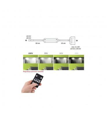 DESIGN LIGHT single colour RF controller 36W 12-24V 6-way splitter -
