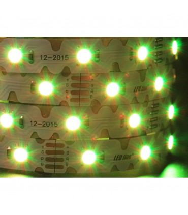 LED line® strip 210 SMD 5060 TWIST 12V RGB IP20.The strip can be bent in any direction horizontally and vertically, wit