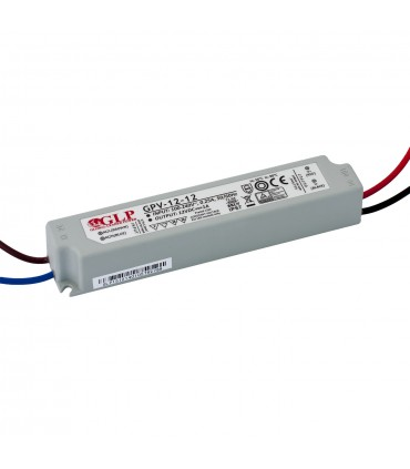 GLP waterproof constant voltage power supply 12W 12V 1A IP67