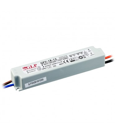 GLP waterproof constant voltage power supply 18W 12V 1.5A IP67