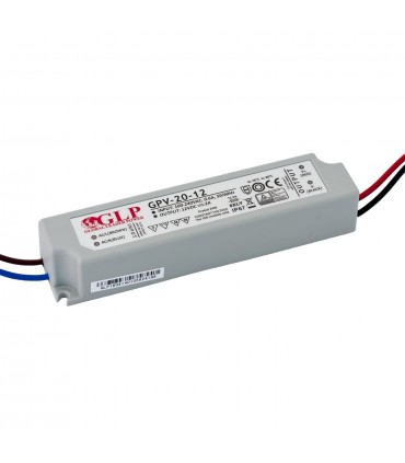 GLP waterproof constant voltage power supply 24W 12V 2A IP67