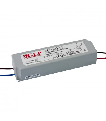 GLP waterproof constant voltage power supply 100W 12V 8.3A IP67