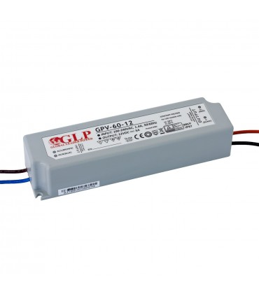 GLP waterproof constant voltage power supply 60W 12V 5A IP67