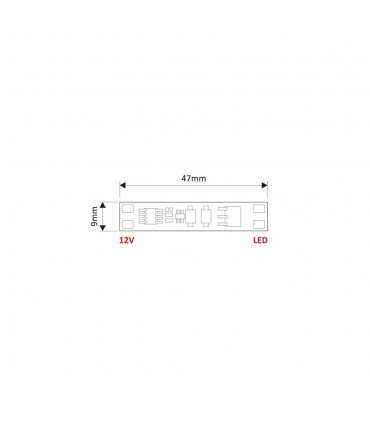 DESIGN LIGHT LED touch switch controller XC60 - size