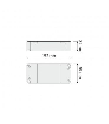 DESIGN LIGHT LED power supply STANDARD PLUS 12V 65W -