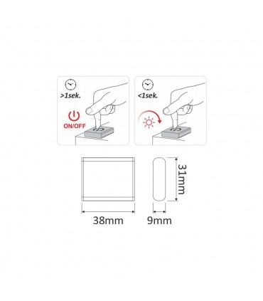 DESIGN LIGHT dimmer switch TOUCH LED - size