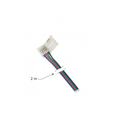 DESIGN LIGHT 2m RGB LED strip extension wire 10mm -