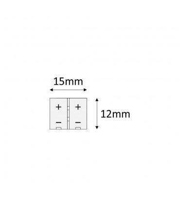 DESIGN LIGHT 2m LED strip extension wire 8mm mini amp connector -