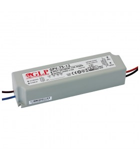 GLP waterproof constant  voltage  power supply 72W 12V 6A IP67 -
