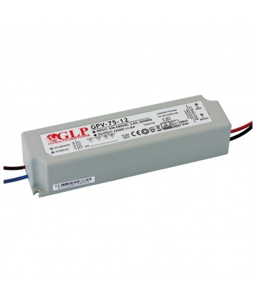 GLP waterproof constant voltage power supply 72W 12V 6A IP67