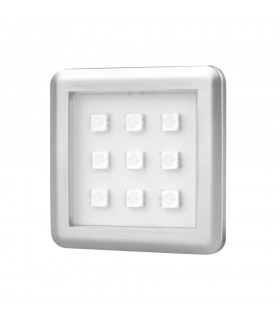 DESIGN LIGHT under cabinet LED light SQUARE 2W RGB aluminium -