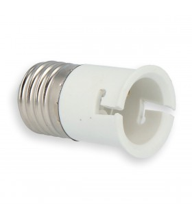 LED line® E27-B22 lamp socket converter. The bulb adapter E27 to B22 enables the use of a bulb with a B22 thread (eg LED