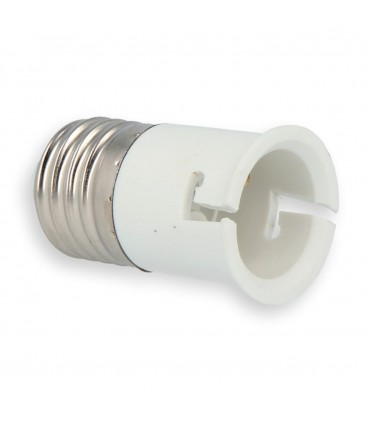 LED line® E27-B22 lamp socket converter.The bulb adapter E27 to B22 enables the use of a bulb with a B22 thread (eg LED