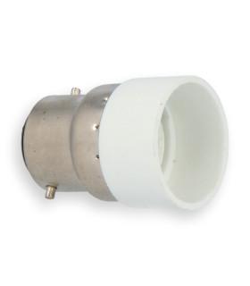 LED line® B22-E14 lamp socket converter. Bulb adapter B22 to E14 enables the use of a bulb with E14 thread (eg LED bulbs