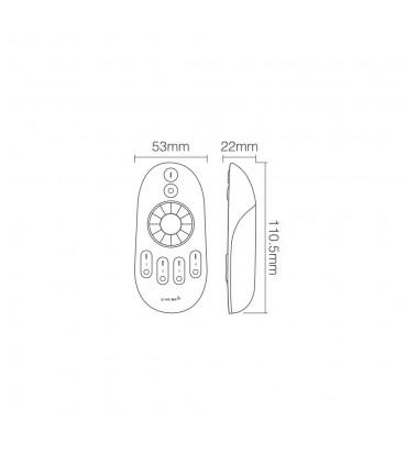 Mi-Light 2.4GHz 4-zone rotating wheel remote controller FUT006 - size