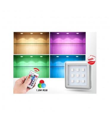 DESIGN LIGHT under cabinet LED light SQUARE 2W RGB aluminium -
