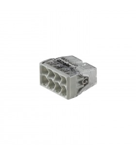 WAGO 2273-208 8-way push wire connector 24A. COMPACT PUSH WIRE® connector for junction boxes; 8-conductor terminal block