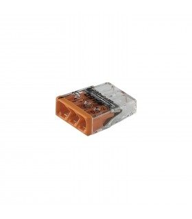 WAGO 2273-203 3-way push wire connector 24A.  -