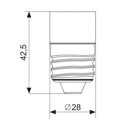 MAX-LED E27-E14 lamp socket converter - size