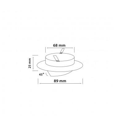LED line® MR16 flat adjustable ceiling downlight satin V2. Designed for halogen and LED bulbs with a diameter of 50mm MR