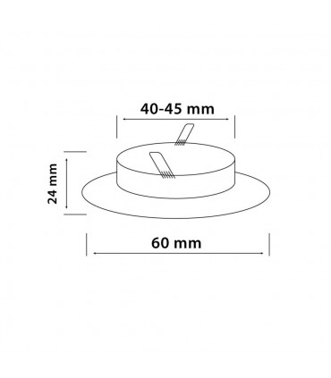 LED line® MR11 recessed ceiling downlight chrome.Ideal for lighting flats (suspended ceilings, lighting furniture), sho