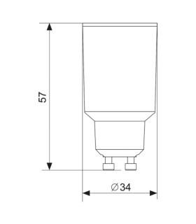 MAX-LED GU10-E27 lamp socket converter - size