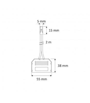 DESIGN LIGHT 2m 6-way mini connector splitter - size