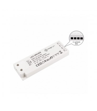 DESIGN LIGHT LD power supply 12V 15W with MINI connector sockets -