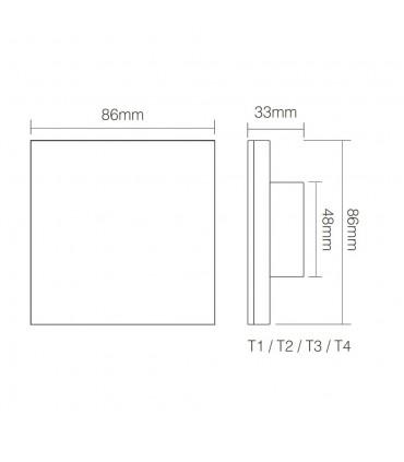 Mi-Light smart panel controller brightness P1 - size
