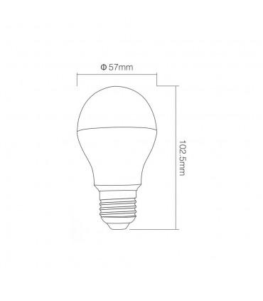 Mi-Light 6W dual white LED light bulb FUT017 - size