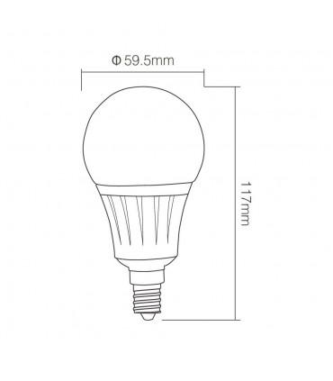 Mi-Light 5W E14 RGB+CCT LED light bulb FUT013 - size