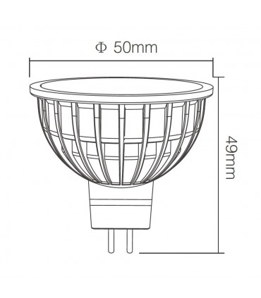 Mi-Light 4W MR16 RGB+CCT LED spotlight FUT104 - size