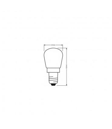 LEDOM E14 light bulb 230V 2W 130lm daylight 4000K - size