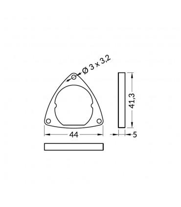TOPMET aluminium profile OVAL20 steel silver mounting plates -