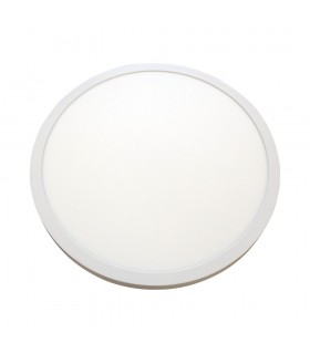 LED line® round downlight panel 40W 60x60 warm white. A large, round LED line® panel with a 595mm diameter power supply