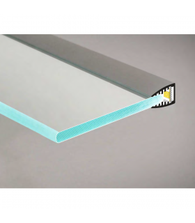 TOPMET anodised aluminium glass LED profile MIKRO10 silver application