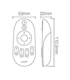 Mi-Light 2.4GHz 4-zone CCT remote controller FUT007 - size