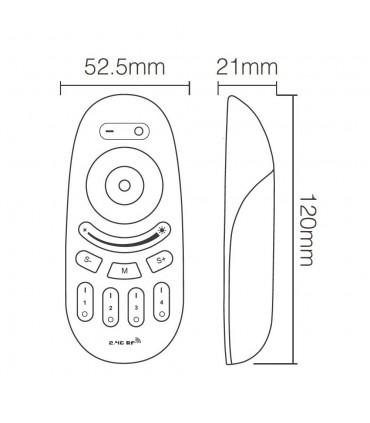 Mi-Light 2.4GHz 4-zone touch RF RGBW remote control FUT096 - size