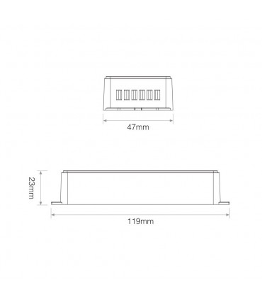 Mi-Light 4-channel high-performance amplifier PA4 - size