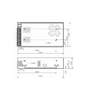 POS modular power supply POS-240-12 240W 20A -